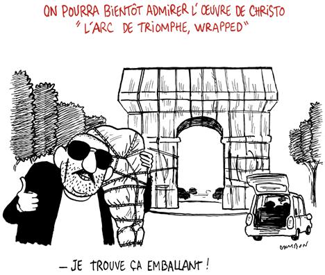 On pourra bientôt admirer l'œuvre de Christo « L'Arc de Triomphe, wrapped »