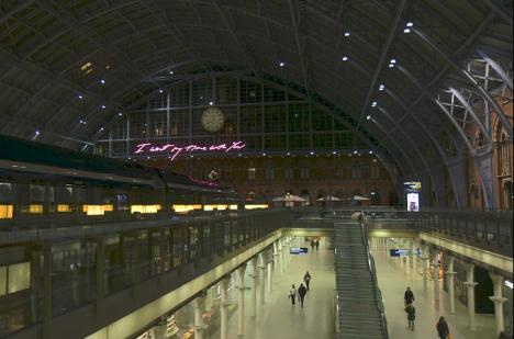 Tracey Emin, I want my time with you,  gare Saint-Pancras - Londres