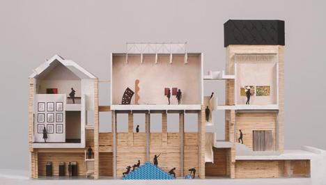 Maquette du Goldsmiths CCA, projet du collectif d'architectes Assemble