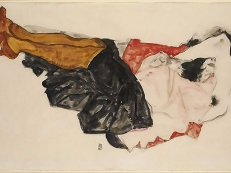 Egon Schiele, Woman hiding her face, 1912