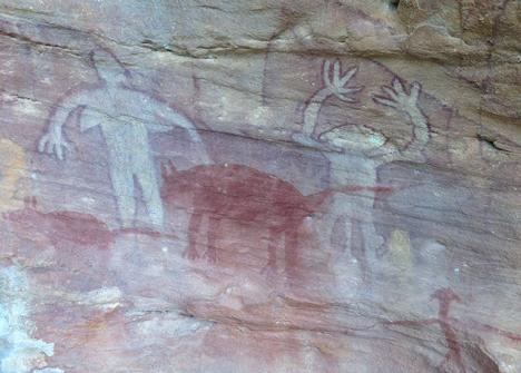 Peintures aborigènes sur le site de Split Rock en Australie. © Photo Doug Beckers, 2014, CC BY-SA 2.0