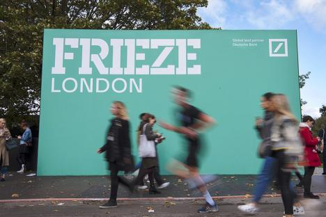 Entrée de la Frieze London 2019. © Photo Linda Nylind/Frieze