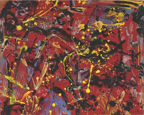 Jackson Pollock, Red Composition, 1946, 48 x 60 cm. © Christie's Images Ltd 2020