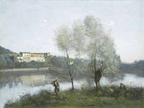 Jean-Baptiste Camille Corot, étang de Ville d'Avray, vers 1867, huile sur toile, 49 x 65 cm. © National Gallery of Art, Washington, Public Domain