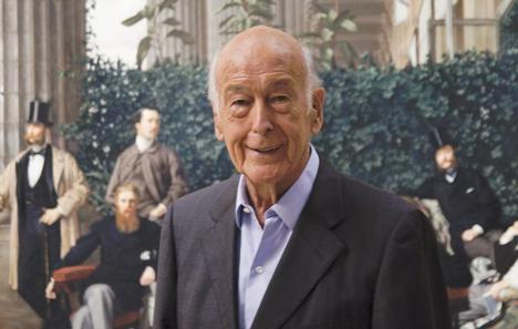Valéry Giscard d'Estaing au musée d'Orsay en 2011. © Sophie Crépy/Musée d'Orsay