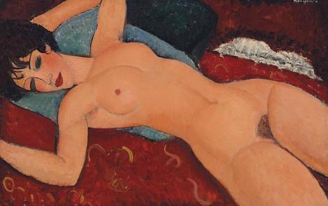 Amedeo Modigliani, Nu couché, 1917, huile sur toile, 65 x 92 cm, collection privée. © Liu Yiqian Collection/Domaine public