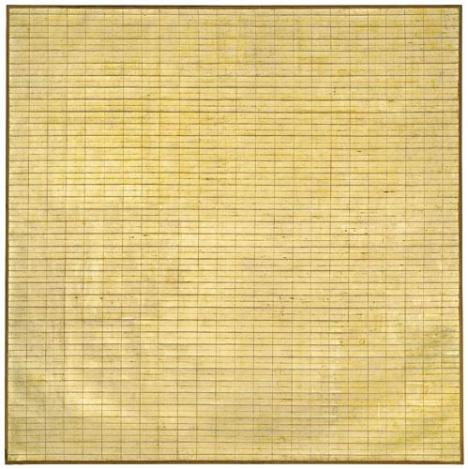 Agnes Martin, <em>Friendship (Amitié)</em>, 1963, huile sur toile, Museum of Modern Art, New York