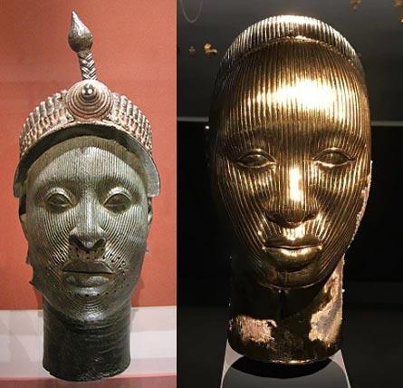En visitant l exposition de Damien Hirst présentée au Palazzo Grassi à  Venise, l artiste Victor Ehikhamenor a été attiré par une sculpture  intitulée Golden ... f8ed836a4c9