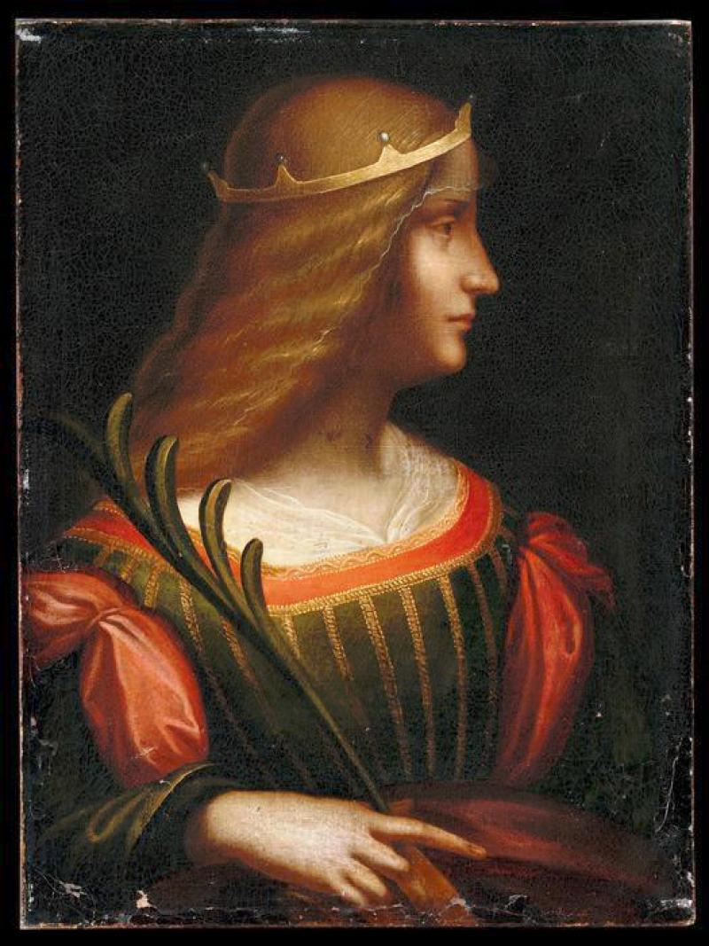 Le Portrait D Isabelle D Este Peint Par Leonard De Vinci Dont Le Louvre Possede L Etude Preparatoire Aurait Ete Retrouve 7 Octobre 2013 Lejournaldesarts Fr