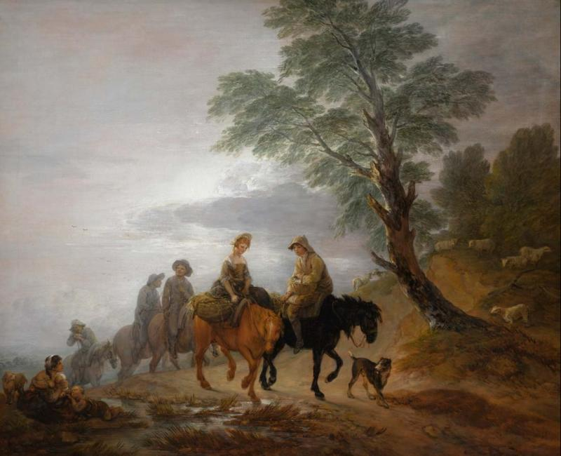 Going to Market, Early Morning, Thomas Gainsborough, 1773, huile sur toile, 121,8 x 147,2 cm © Sotheby's, 2018, CC BY-SA 4.0