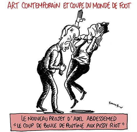 Art contemporain et coupe du monde de foot