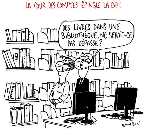 Dessin Humour : La cour des comptes épingle la BPI © Michel Cambon